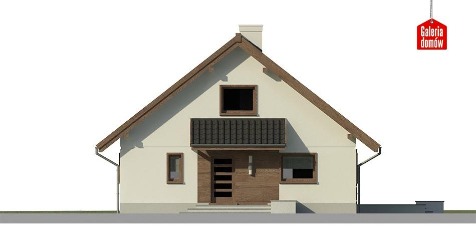 Dom przy Cytrynowej - elewacja frontowa