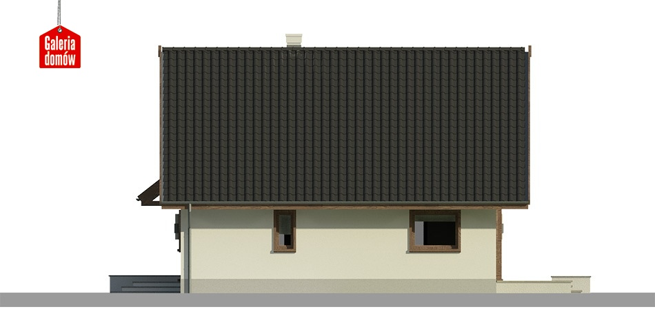 Dom przy Cytrynowej - elewacja prawa