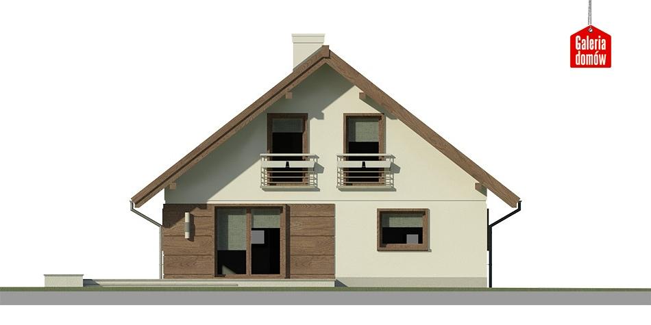 Dom przy Cytrynowej - elewacja tylna