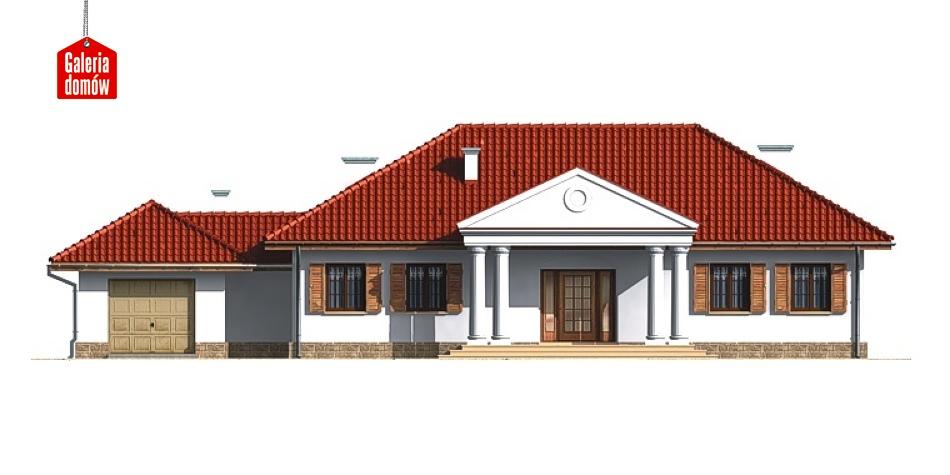 Dom przy Dębowej - elewacja frontowa