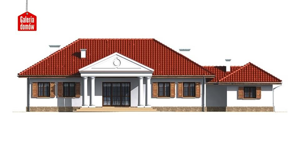 Dom przy Dębowej - elewacja tylna
