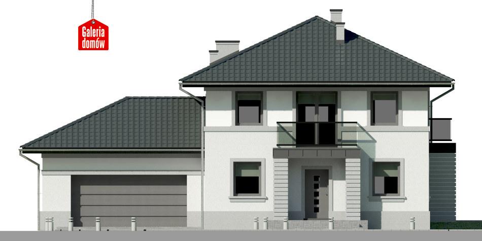 Dom przy Diamentowej - elewacja frontowa