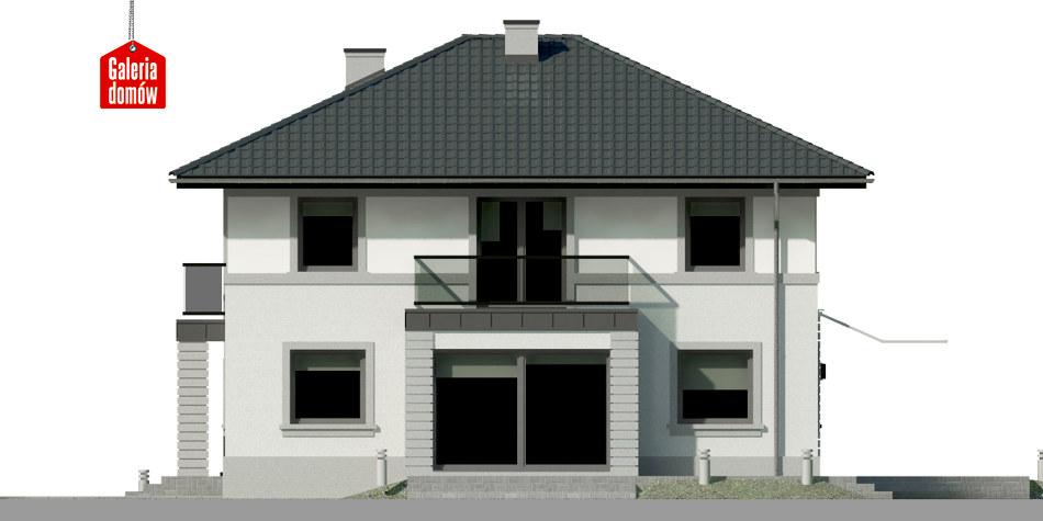 Dom przy Diamentowej - elewacja prawa
