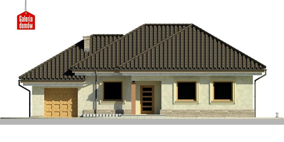 Dom przy Fiołkowej 2 - elewacja frontowa