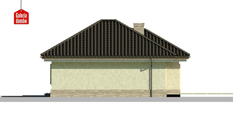 Dom przy Fiołkowej 2 - elewacja prawa