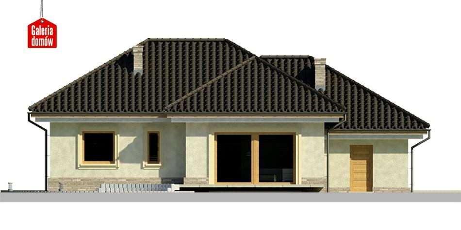 Dom przy Fiołkowej 2 - elewacja tylna