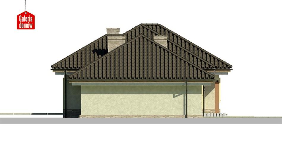 Dom przy Fiołkowej 2 - elewacja lewa