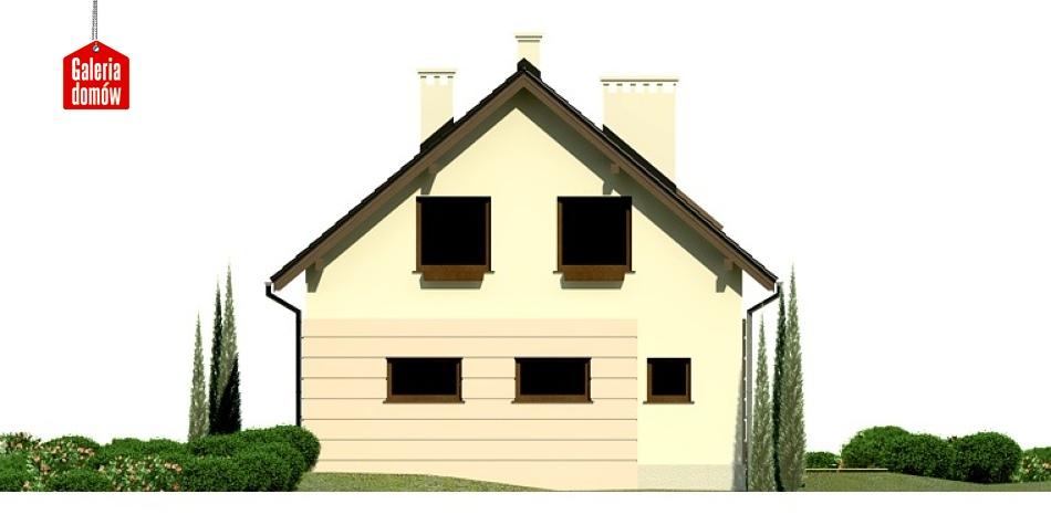 Dom przy Głogowej 2 - elewacja tylna