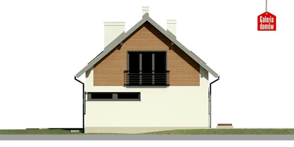 Dom przy Głogowej 3 - elewacja tylna