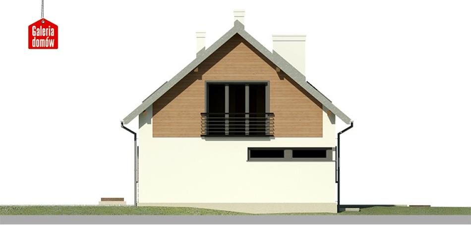 Dom przy Głogowej 4 - elewacja tylna