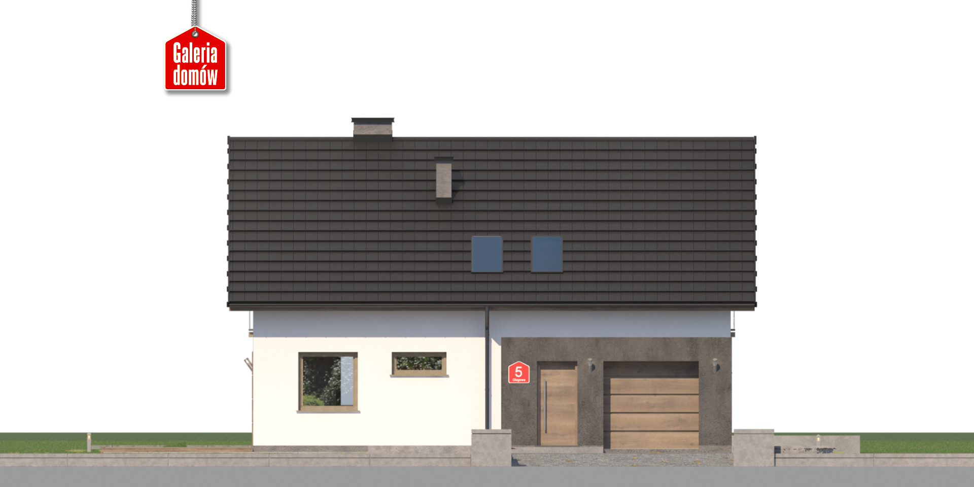 Dom przy Głogowej 5 - elewacja frontowa