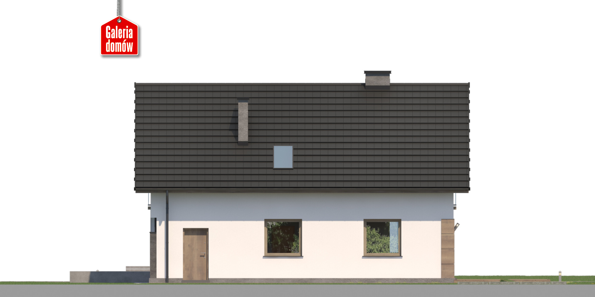 Dom przy Głogowej 5 - elewacja tylna