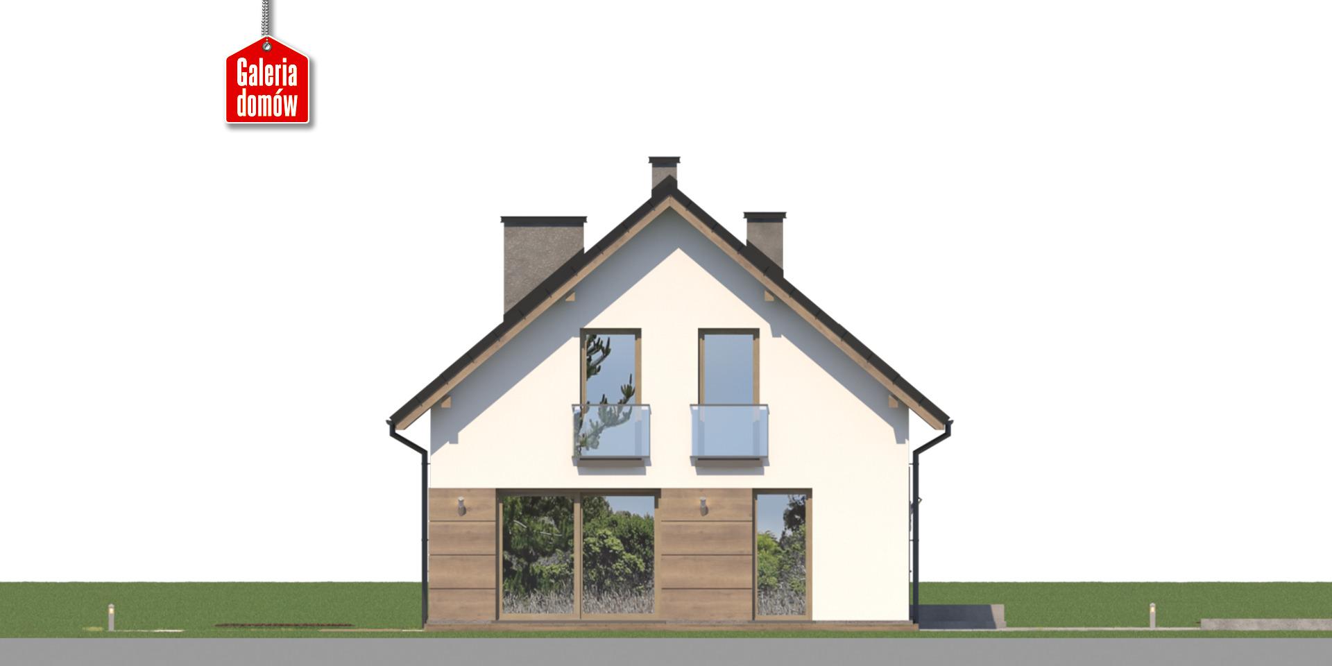 Dom przy Głogowej 5 - elewacja lewa
