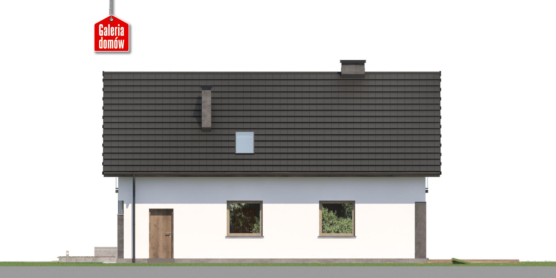 Dom przy Głogowej 6 - elewacja tylna