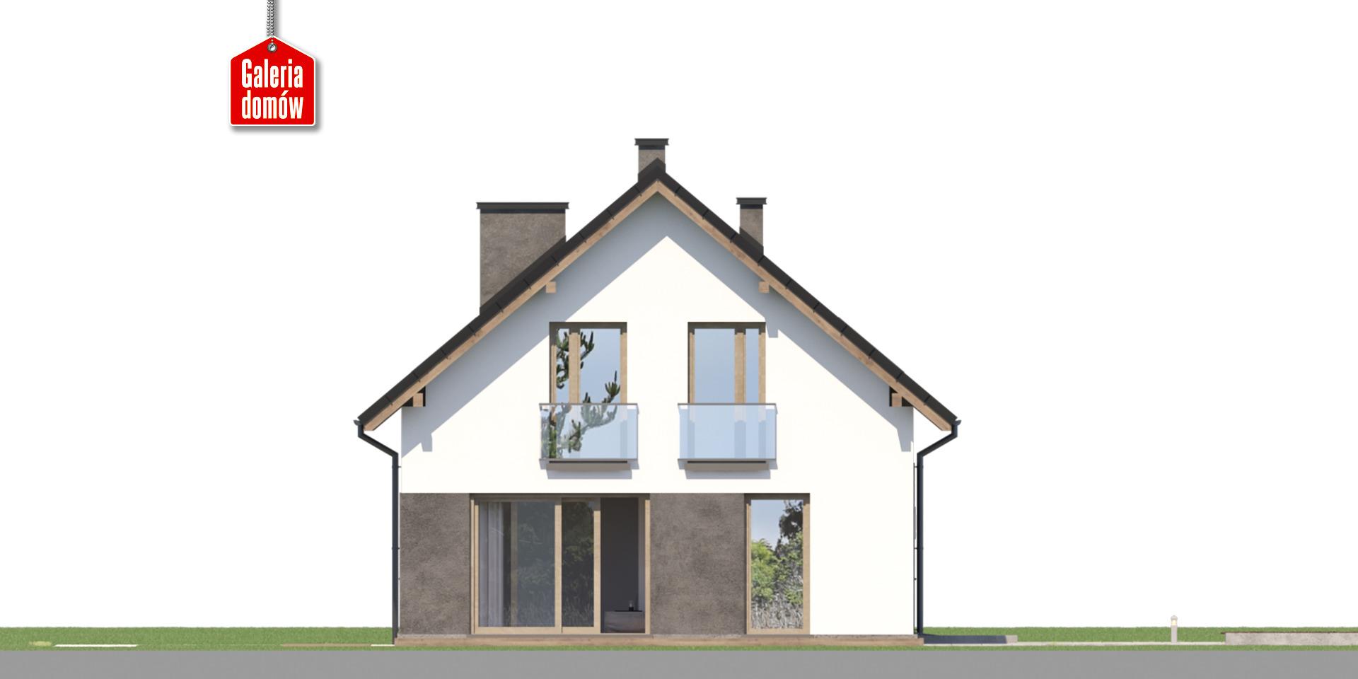 Dom przy Głogowej 6 - elewacja lewa