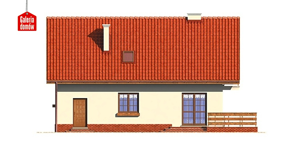 Dom przy Głogowej - elewacja lewa