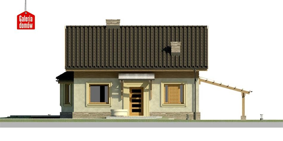 Dom przy Imbirowej 2 - elewacja frontowa