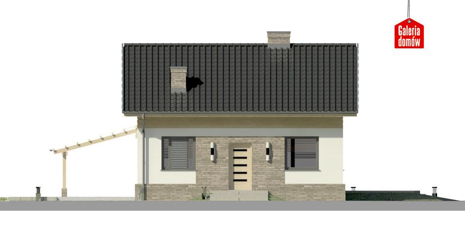 Dom przy Imbirowej 3 N - elewacja frontowa