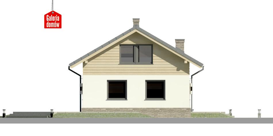 Dom przy Imbirowej 3 N - elewacja lewa