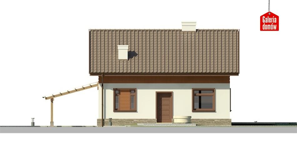 Dom przy Imbirowej 3 - elewacja frontowa