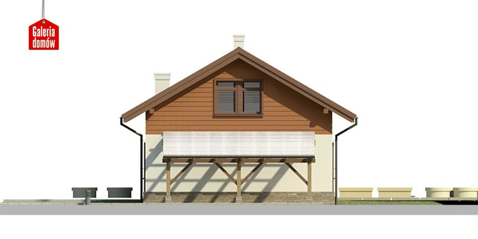 Dom przy Imbirowej 3 - elewacja prawa