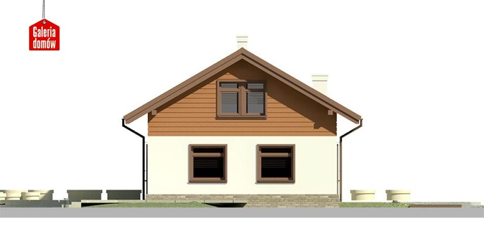 Dom przy Imbirowej 3 - elewacja lewa