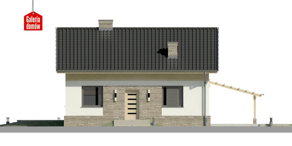 Dom przy Imbirowej 4 N - elewacja frontowa