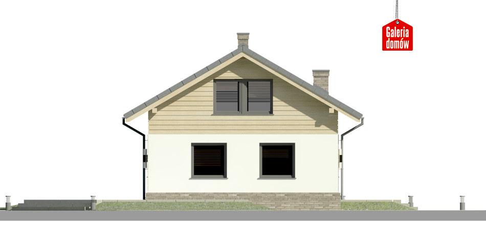 Dom przy Imbirowej 4 N - elewacja lewa