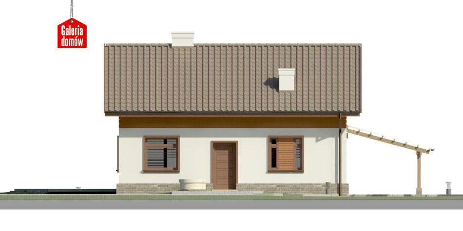 Dom przy Imbirowej 4 - elewacja frontowa