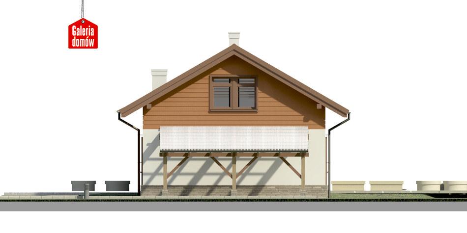 Dom przy Imbirowej 4 - elewacja prawa