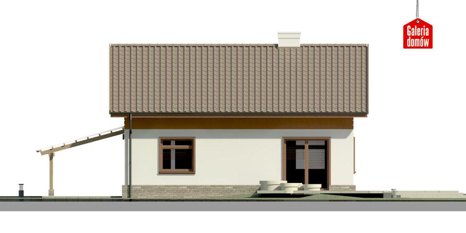 Dom przy Imbirowej 4 - elewacja tylna