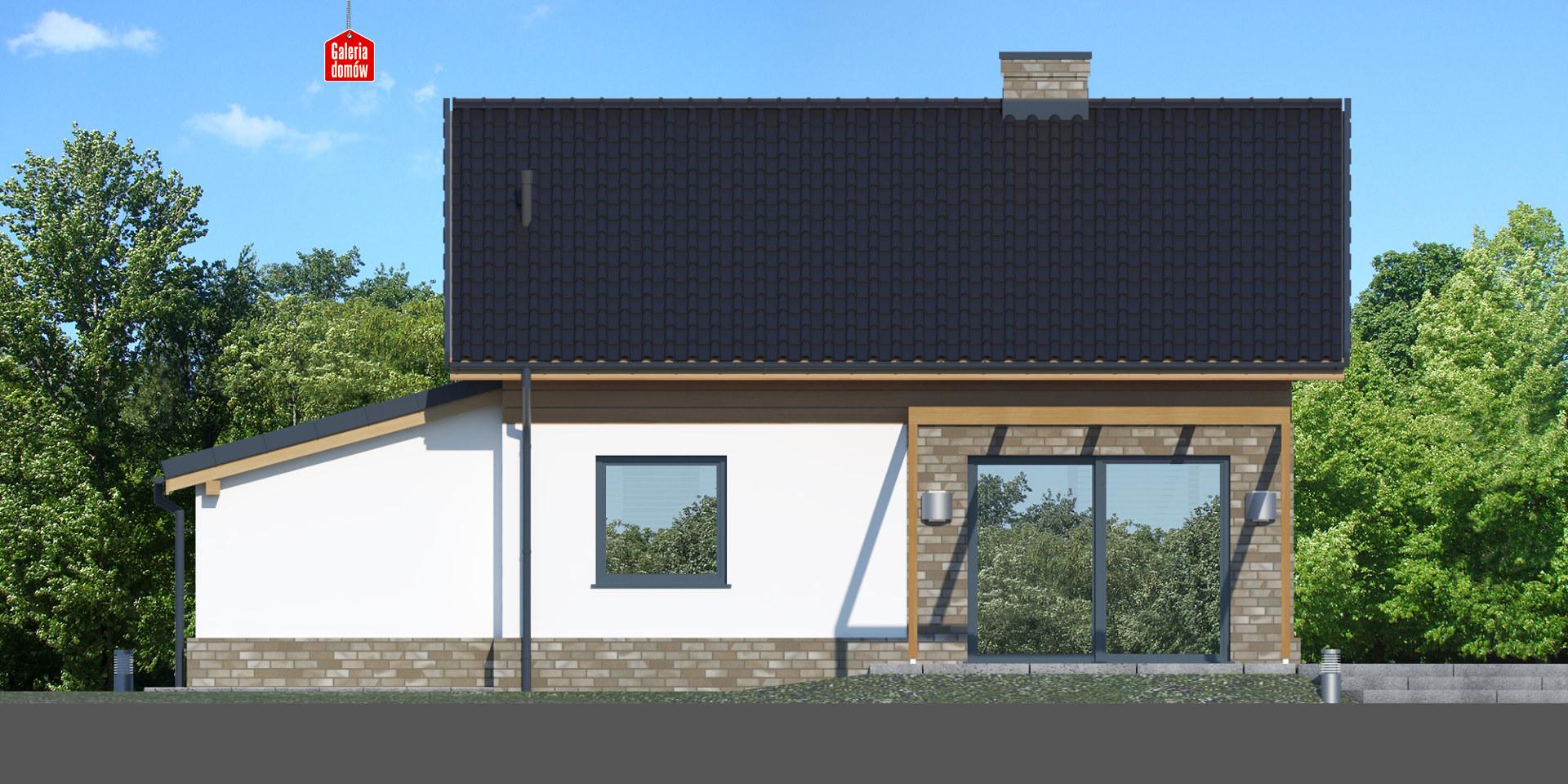 Dom przy Imbirowej 5 N - elewacja frontowa