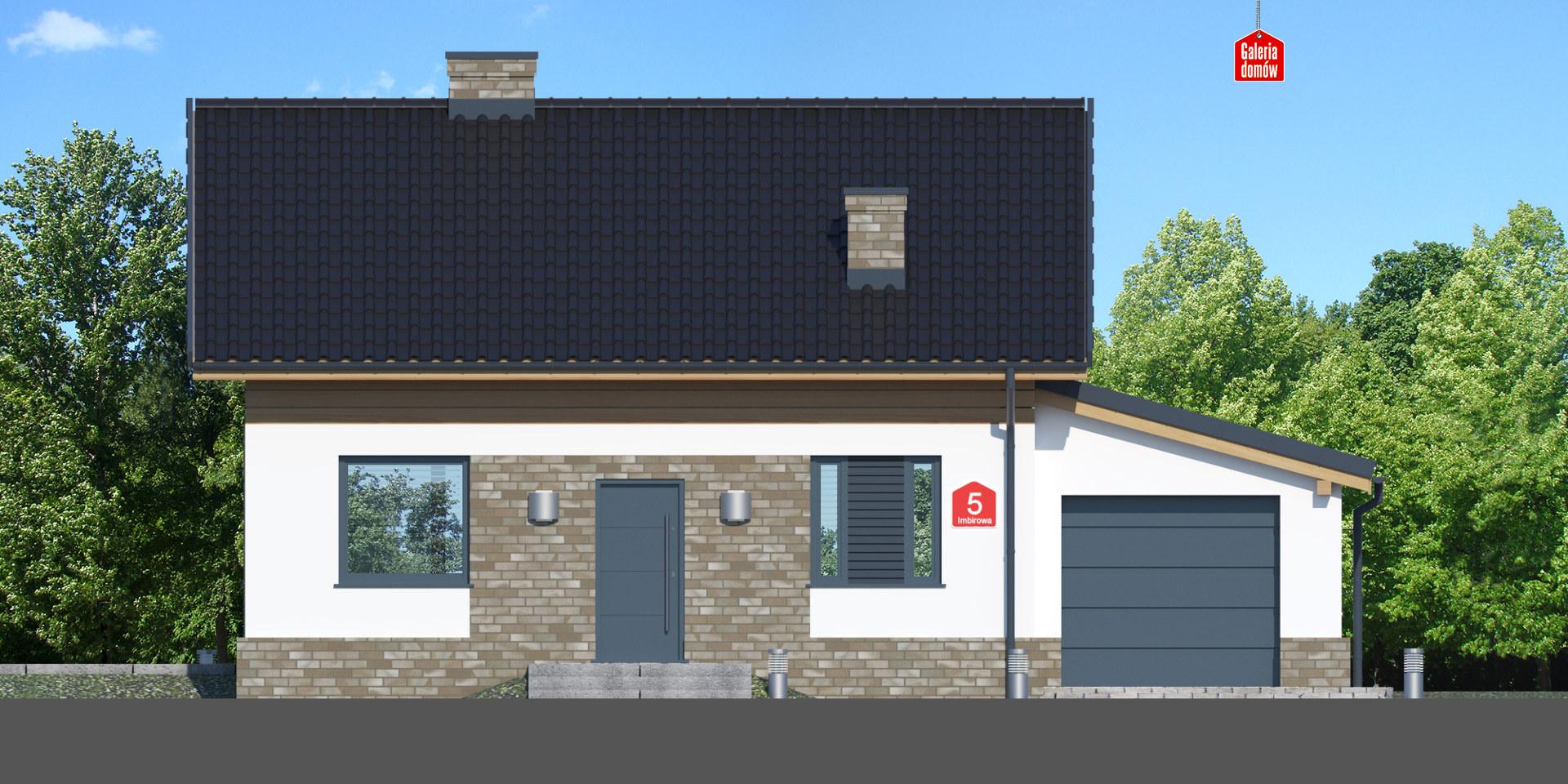 Dom przy Imbirowej 5 N - elewacja tylna