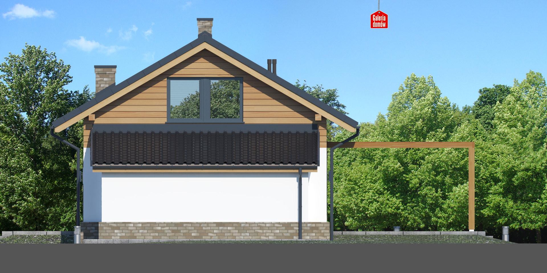 Dom przy Imbirowej 5 N - elewacja lewa