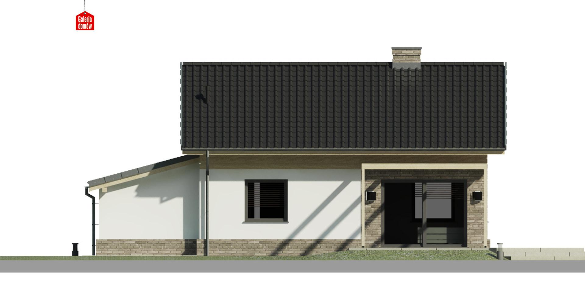 Dom przy Imbirowej 6 N - elewacja tylna