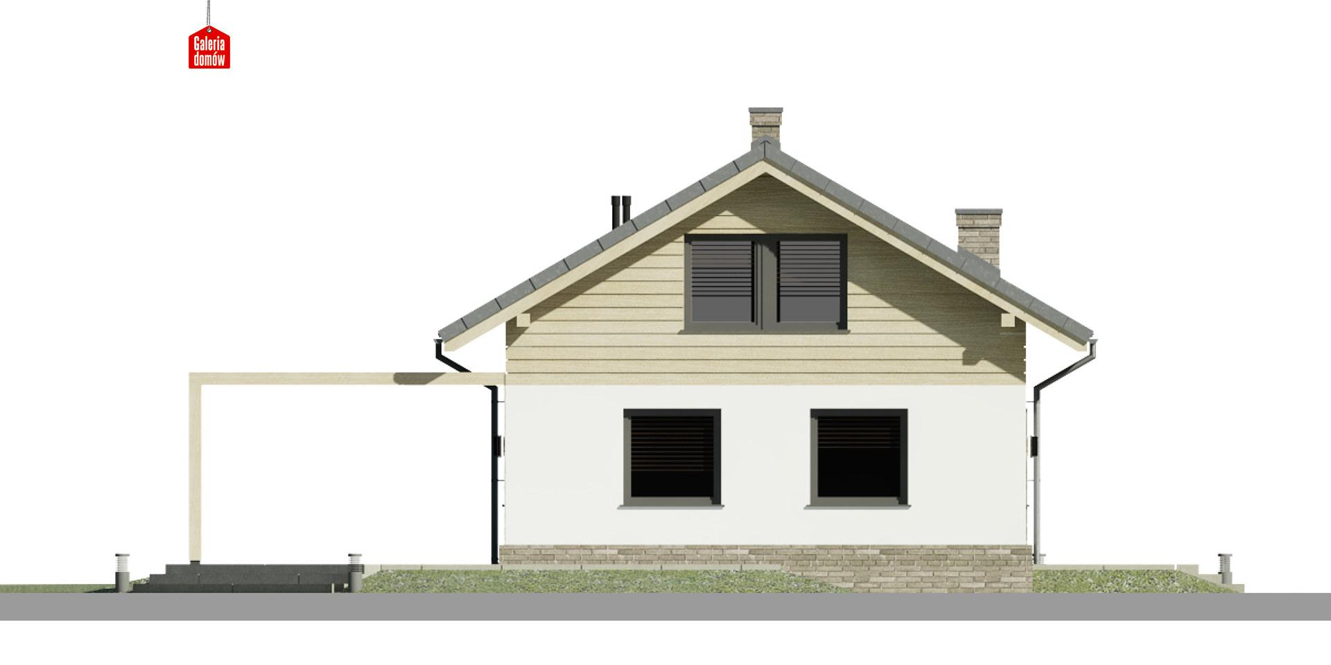 Dom przy Imbirowej 6 N - elewacja lewa