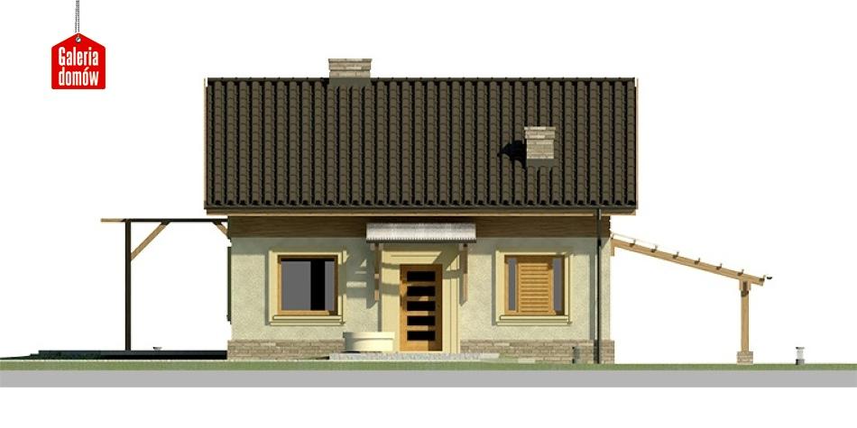 Dom przy Imbirowej - elewacja frontowa