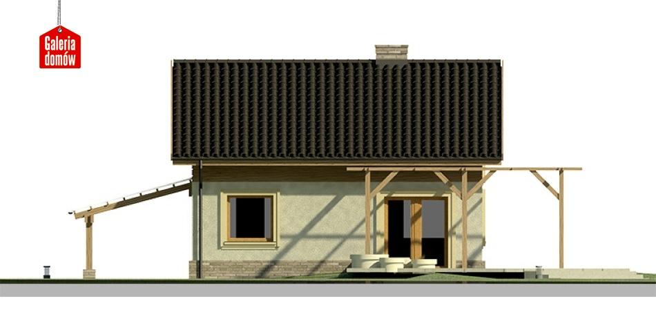 Dom przy Imbirowej - elewacja tylna