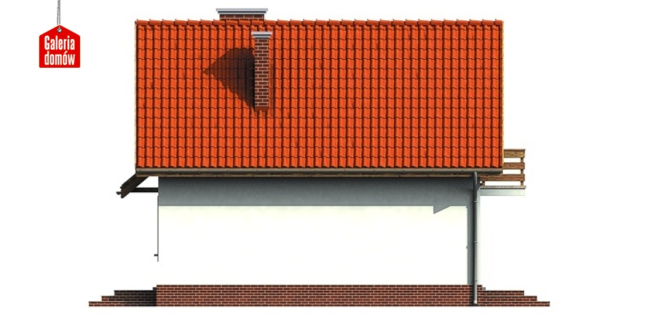 Dom przy Jałowcowej - elewacja tylna