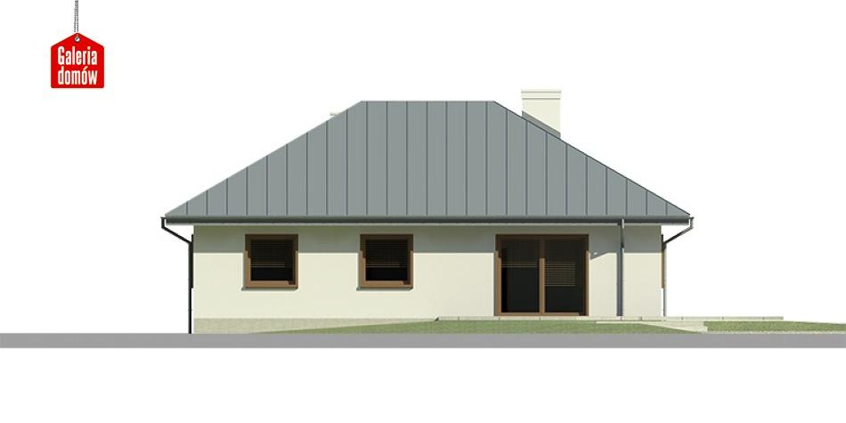 Dom przy Jaśminowej 2 - elewacja lewa