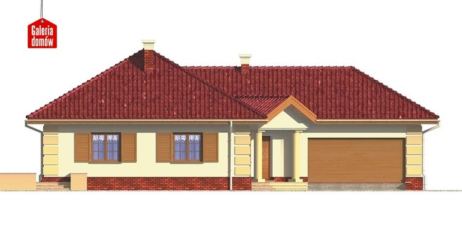 Dom przy Jaśminowej - elewacja frontowa