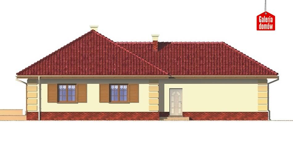 Dom przy Jaśminowej - elewacja tylna
