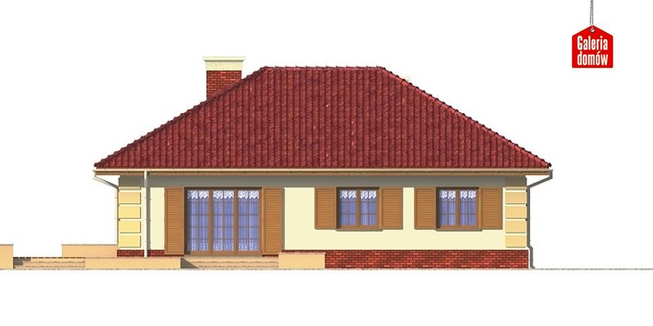 Dom przy Jaśminowej - elewacja lewa