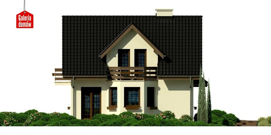 Dom przy Kalinowej 2 - elewacja frontowa