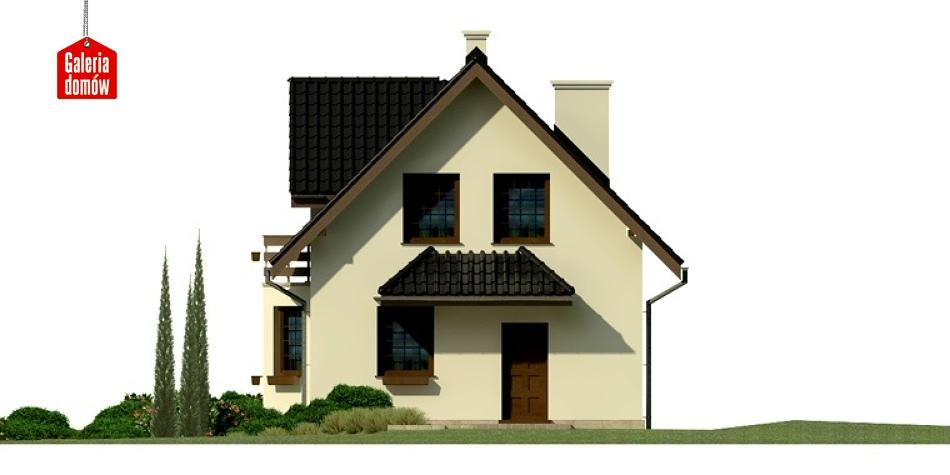 Dom przy Kalinowej 2 - elewacja prawa