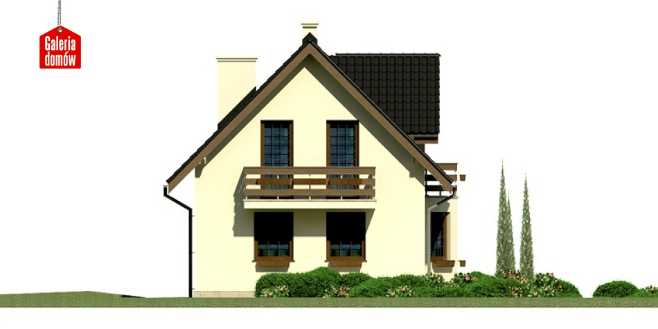 Dom przy Kalinowej 2 - elewacja lewa