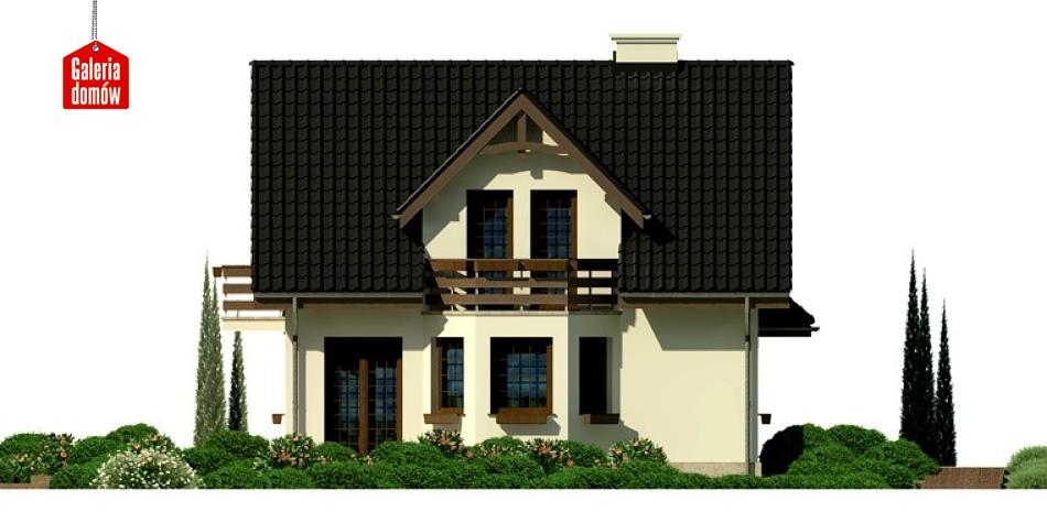 Dom przy Kalinowej 3 - elewacja frontowa