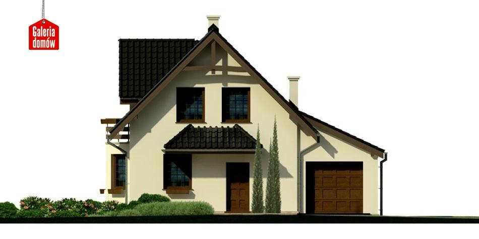 Dom przy Kalinowej 3 - elewacja prawa