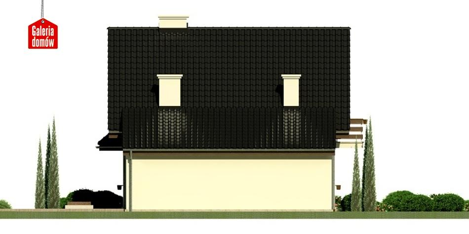 Dom przy Kalinowej 3 - elewacja tylna