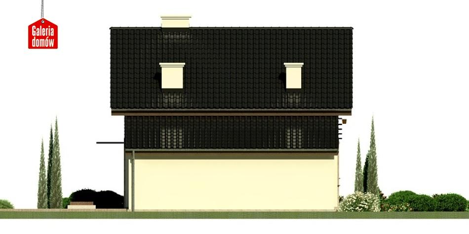 Dom przy Kalinowej 4 - elewacja tylna